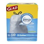110 Count 13 Gallon Glad OdorShield Tall Kitchen Drawstring Fresh Trash Bags Only $10.48-$12.38 w/ Free Shipping!