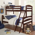 Dorel Living Brady Twin over Full Solid Wood Kid's Bunk Bed with Ladder, Espresso – $195.80 Shipped!