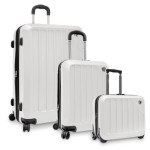 Travelers Choice Glacier Hardshell Expandable Rolling 3-Piece Luggage Set Just $74.99!