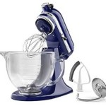 Today Only: KitchenAid 5-Qt. Tilt-Head Stand Mixer with Glass Bowl and Flex Edge Beater Just $206.99 Shipped!