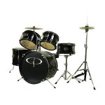GP Percussion 5-Piece Junior Drum Set with Cymbals and Throne in Metallic Black Just $128.81 Shipped!