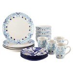 Rachael Ray Dinnerware Ikat Collection 16-Piece Set Just $39.99 w/ Free Shipping!