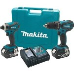 Today Only: Makita 18V LXT Lithium-Ion 2-Pc. Cordless Combo Kit with 2 Batteries Just $199 Shipped!
