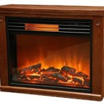Lifesmart Large Room Infrared Quartz Fireplace in Burnished Oak Finish w/Remote Just $149 Shipped!