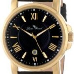 Lucien Piccard Men's Cilindro Black Textured Dial Black Leather Watch Just $32.26 Shipped!!