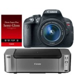 Canon EOS T5i DSLR Camera 18-55mm Lens + Canon Pro-100 Printer + Photo Paper Only $369 w / Free Shipping!! (AR)