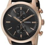 Fossil Men's Townsman Chronograph Stainless Steel Watch with Black Leather Band Just $86.96 w/ Free Shipping