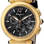 Salvatore Ferragamo Women's Idillio Gold Ion-Plated Watch w/ Black Leather Band Just $499 Shipped! (Was $1,495!)