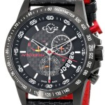 HOT! GV2 by Gevril Men's 9900 Scuderia Analog Display Swiss Quartz Black Watch Only $143.99 Shipped!!