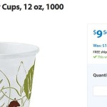 Dixie Pathways Polylined Hot Paper Cups, 12 oz, 1000 count For Just $9.56!
