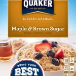 Pack of 4 – 10 Count Boxes of Quaker Instant Oatmeal Maple Brown Sugar Just $6.38!