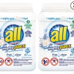 Hot! 134 all Mighty Pacs Free Clear Super Concentrated Laundry Detergent Just Just $7.25!!