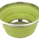 MIU France Collapsible Silicone Colander with Stainless Steel Rim Only $11.88!