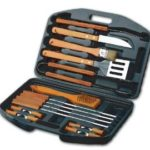 Chefs Basics 18-Piece Stainless-Steel Barbecue Set with Carrying Case Just $12