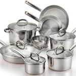 T-fal Ultimate Stainless Steel Copper-Bottom Heavy Gauge Multi-Layer Base Cookware Sets On Sale!