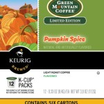 Green Mountain Coffee Pumpkin Spice Keurig K-Cups, 72 Count For $28.52-$31.88 + Free Shipping