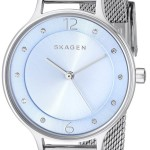 Skagen Women's Anita Analog Display Analog Quartz Silver Watch Just $68 Shipped!