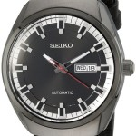 Seiko Men's Analog Display Automatic Self Wind Black Watch Only $89 Shipped!