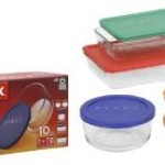 PYREX 10-pc Storage Set w/ Plastic Covers For just $12.63