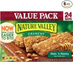 Case of six, 24-count packages (total of 144 bars) of Nature Valley Crunchy Granola Bars just $20.92- $23.91 + free shipping