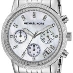 Michael Kors Women's Ritz Silver-Tone Watch Just $141.87 w/ Free Shipping!