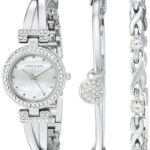 Anne Klein Women's Swarovski Crystal-Accented Silver-Tone Bangle Watch and Bracelet Set Only $74.50 Shipped!