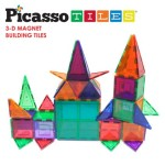 Picasso Tiles Clear 3d Magnetic Building Blocks 60-piece Set For Just $38.99!