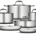 TRAMONTINA 10pc Tri-Ply Clad 18/10 Cookware Set Just $134 w/ Free Shipping!