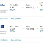 United / jetBlue: Newark To/From Orlando Florida For Just $78 Each Way