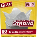 Glad Tall Kitchen Quick-Tie Trash Bags, 13 Gallon, 80 Count For Just $6.99