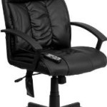 High-Back Massaging Black Leather Executive Swivel Office Chair Just $81.08 Shipped!