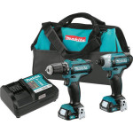 Makita 12V Max Li-Ion 1/4″ Impact Driver & 3/8″ Drill Driver Kit Just $99.99 + Free Shipping