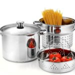 Cook N Home 8-Quart Stainless Steel 4-Piece Pasta Cooker Steamer Multipots with Encapsulated Bottom Only $29.99