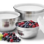 Set of 3 Cuisinart Stainless Steel Mixing Bowls with Lids For Just $21.22