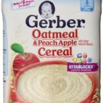 HOT! Pack of 6 Gerber Oatmeal and Peach Apple Baby Cereal Only $2.82!!