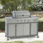 Kenmore 4 Burner Stainless Steel Lid Gas Grill with Storage For Just $267.29!