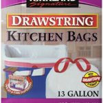 Kirkland Signature Drawstring Kitchen Trash Bags, 200 Ct For Just $11.16 Per Box w/ Free Shipping!