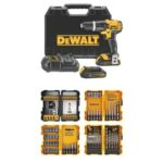 Dewalt Tool Sale on Amazon – DEWALT 20V MAX Compact 1.5 Ah Hammer Drill/Driver Kit w/ 100 Piece Screwdriving and Drilling Set Just $169!