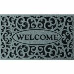 Apache Mills Welcome Iron Graphite Door Mat Only $9.90!