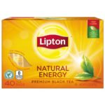 40-Count Lipton Natural Energy Premium Black Tea Only 84¢-94¢ + Free Shipping!
