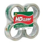 Duck Brand 4-Pack HD Clear High Performance Packaging Tape Just $6.48!