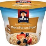 Quaker Instant Oatmeal Express Cups, Maple Brown Sugar, Breakfast Cereal (Pack of 12) Just $7.64-$8.82 Shipped