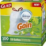 100 count box of 13 gallon tall kitchen trash bags with Gain Original scent just $9.34-$11.04 shipped
