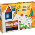 Playmags 100-Piece Magnetic Tiles Deluxe Building Set with Car & Bonus Bag Only $52.49 Shipped!