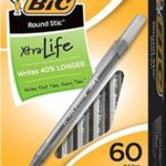 60-Count Box of BIC Round Stic Xtra Life Ball Pens For Just $3