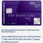 Get 2,500 Bonus Starwood Points For Adding Free Authorized User On Credit Card