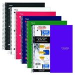 Pack Of 6 Five Star Spiral 100 College Ruled Sheets Notebooks For Just $16.99