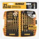 DEWALT 21-Piece Titanium Pilot Point Drill Bit Set Just $17.99