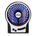 Efluky Mini USB 3 Speeds Rechargeable Portable Table Fan For $9 After Code