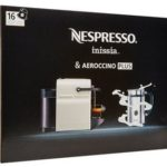 Nespresso A+ Inissia C40 Silver Bundle With Milk Frother Only $99 w/ Free Shipping!